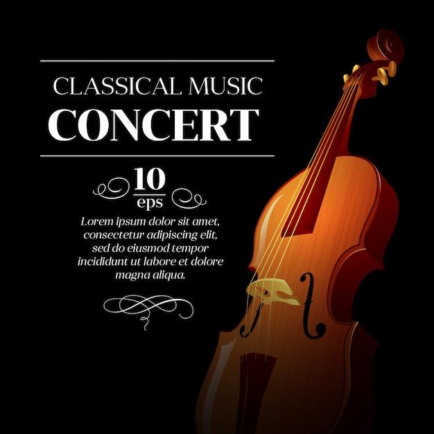 Konzertvorlage für klassische musik Premium Vektoren