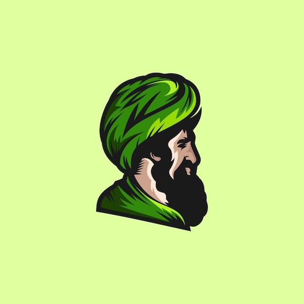 Kopf eines muslimischen mannes Premium Vektoren