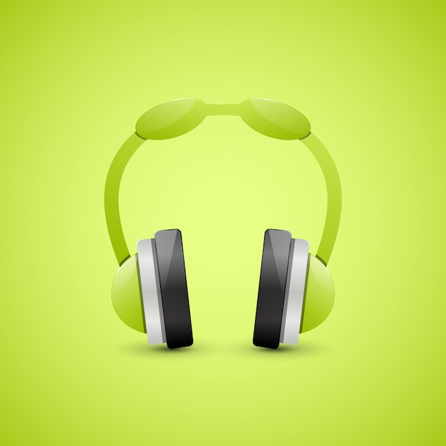 Kopfhörer, grafikkonzept Premium Vektoren