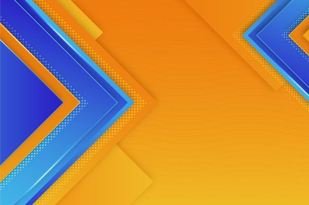 Kopieren sie den polygonalen blauen und orangefarbenen hintergrund des raums Kostenlosen Vektoren