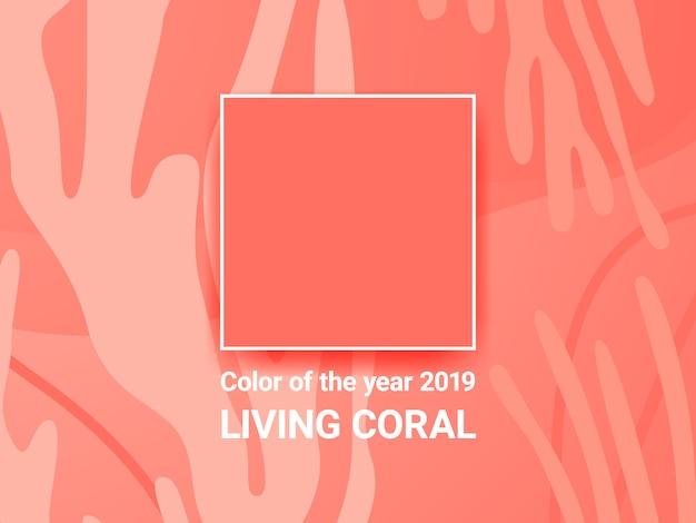 Korallenroter hintergrund Premium Vektoren