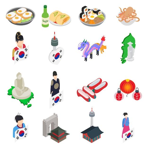 Korea-icon-set Premium Vektoren