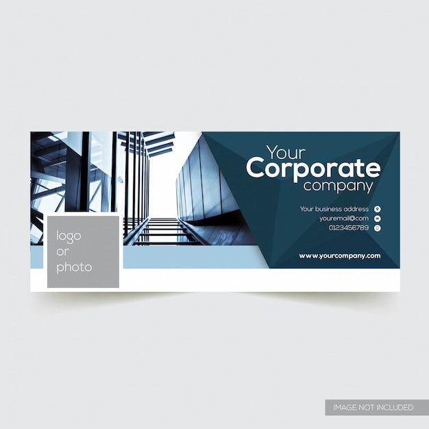 Korporatives facebook-zeitachse-abdeckungs-schablone Premium Vektoren