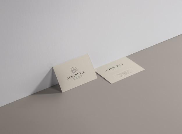 Kosmestic beauty spa visitenkarte Premium Vektoren