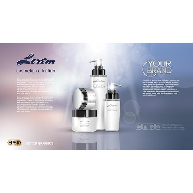 Kosmetik-Broschüre Vorlage | Download der kostenlosen Vektor