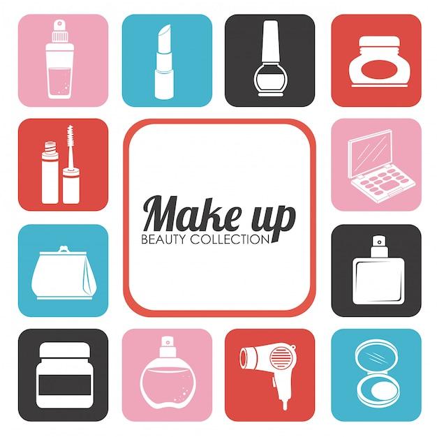 Kosmetik-design-illustration Kostenlosen Vektoren