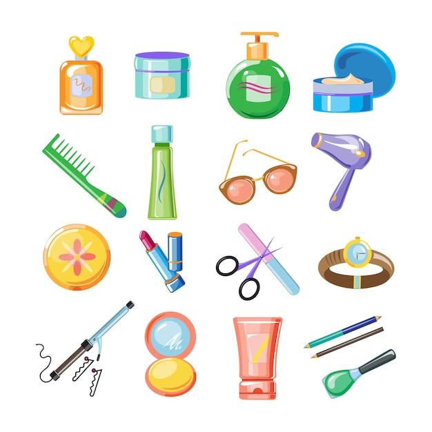 Kosmetik icons set Premium Vektoren