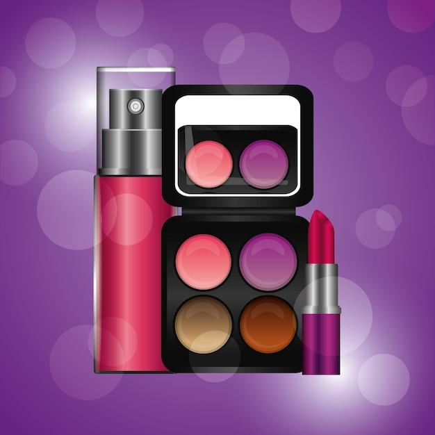Kosmetik make-up Premium Vektoren