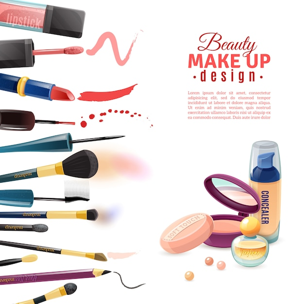 Kosmetik-schönheitsplakat Kostenlosen Vektoren