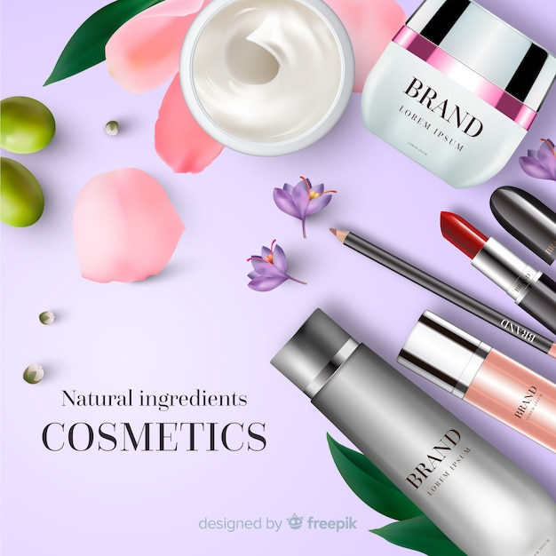 Kosmetikanzeige Kostenlosen Vektoren