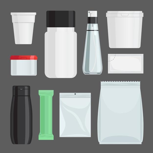 Kosmetikbehälter-vektorsatz Premium Vektoren