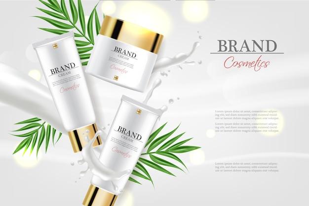 Kosmetikcreme feuchtigkeitscreme Premium Vektoren