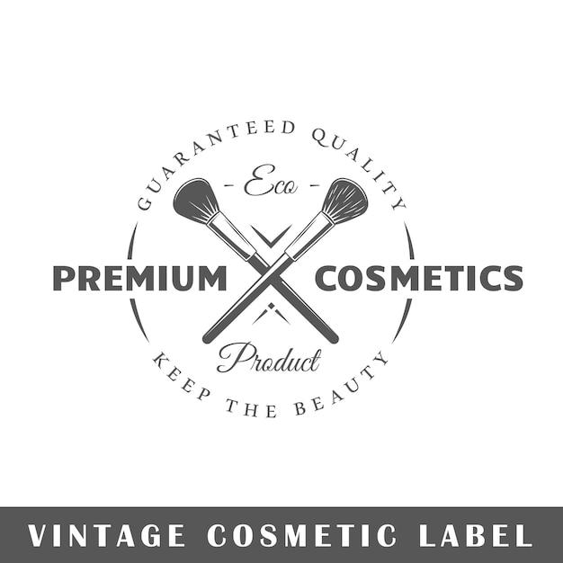 Kosmetiketikett isoliert. vorlage für logo Premium Vektoren