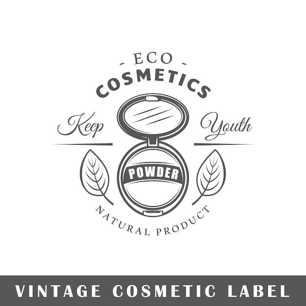 Kosmetiketikett isolierte illustration Premium Vektoren
