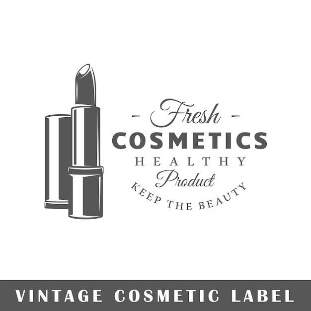 Kosmetiketikett lokalisiert auf weißem hintergrund. element. vorlage für logo, beschilderung, branding. Premium Vektoren