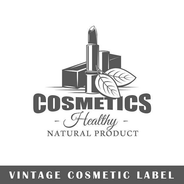 Kosmetiketikett lokalisiert auf weißem hintergrund. gestaltungselement. vorlage für logo, beschilderung, branding-design. Premium Vektoren