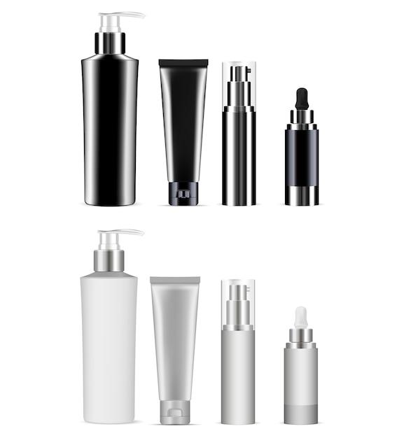 Kosmetikflaschen-paket. produktpaket. Premium Vektoren