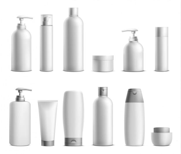Kosmetikpaket-modellsatz. Kostenlosen Vektoren