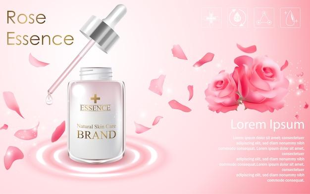 Kosmetische anzeigen vorlage Premium Vektoren