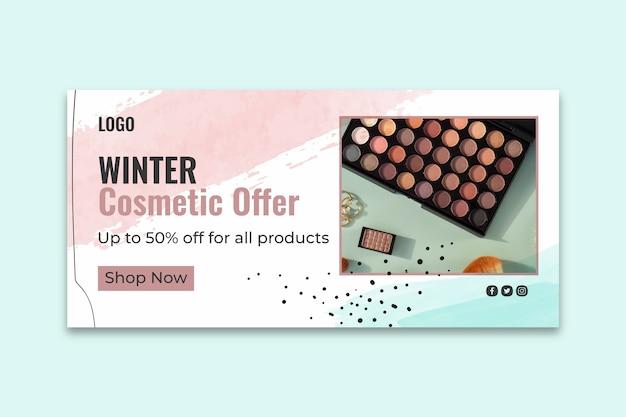 Kosmetische instagram banner vorlage Kostenlosen Vektoren