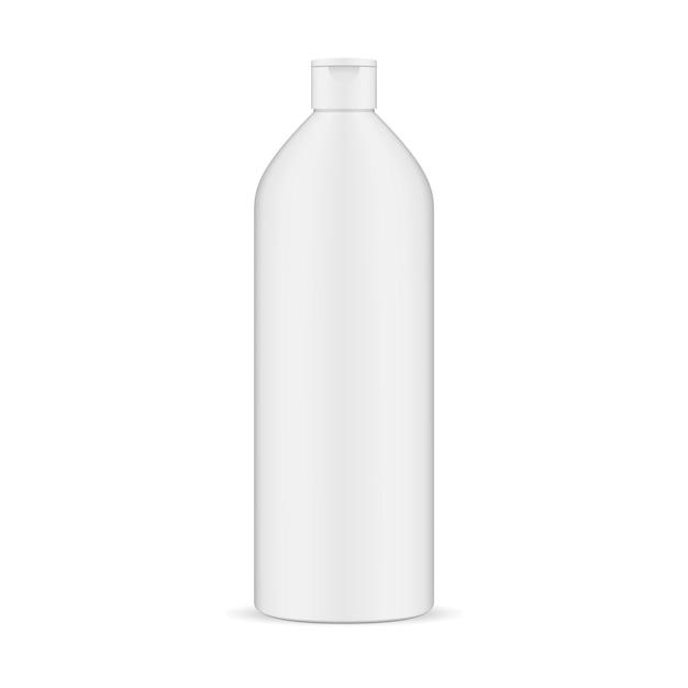 Kosmetische shampoo-flaschen-weiße vektor-illustration. Premium Vektoren