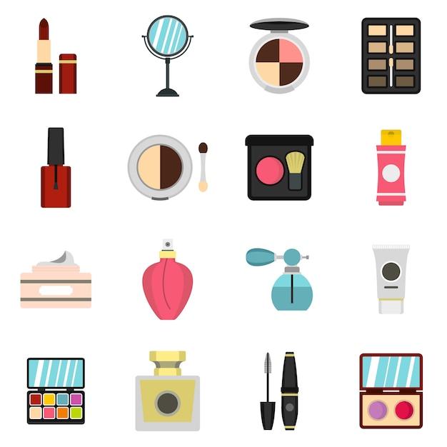 Kosmetische symbole festgelegt Premium Vektoren