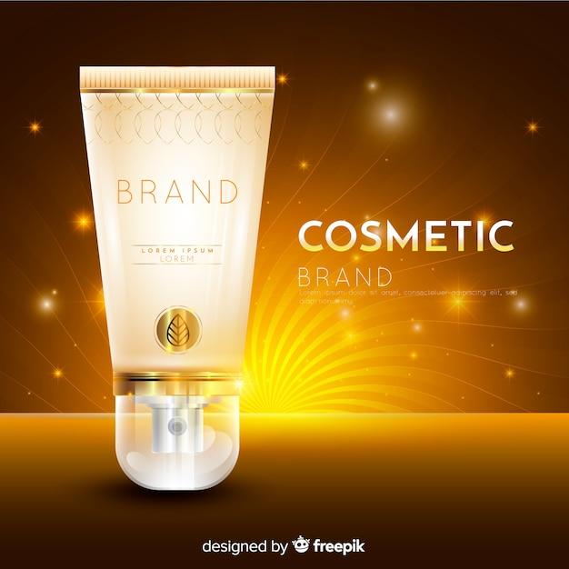 Kosmetische werbung mit realistischem design Kostenlosen Vektoren