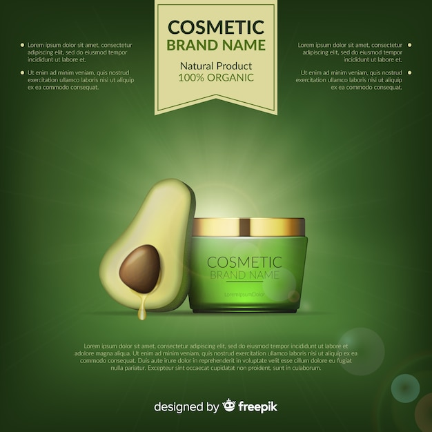 Kosmetischer produkthintergrund Kostenlosen Vektoren