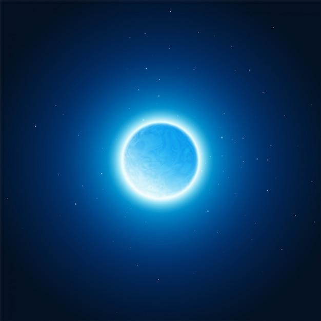 Kosmisches glühen des planetenhintergrundes. vektor-illustration Premium Vektoren