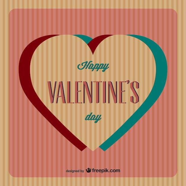 Kostenlos Valentinstag Anaglyphen Vektor Kostenlose Vektoren