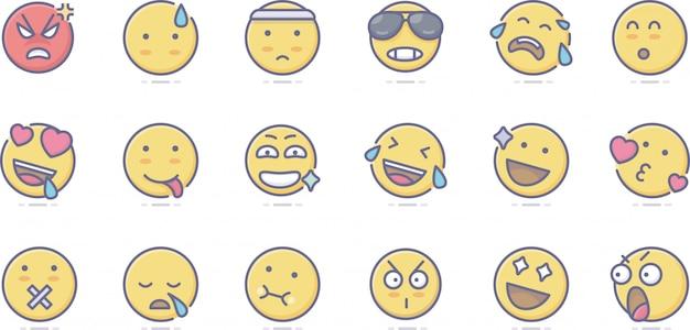 Kostenlose emotion icons Premium Vektoren