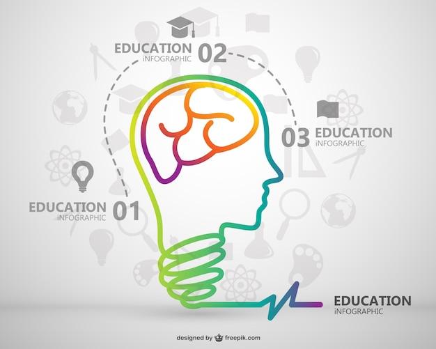 Kostenlose Infografik Bildungs Vektor-Vorlage | Download der ...