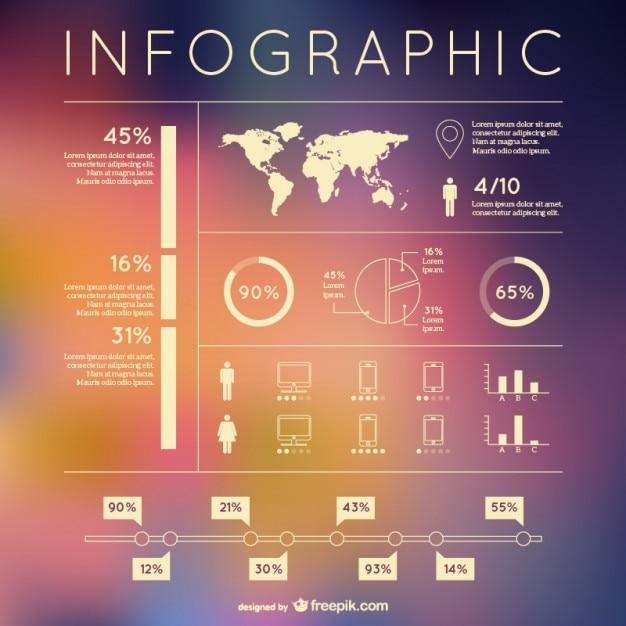 Kostenlose infografik vektor-design-elemente Kostenlosen Vektoren