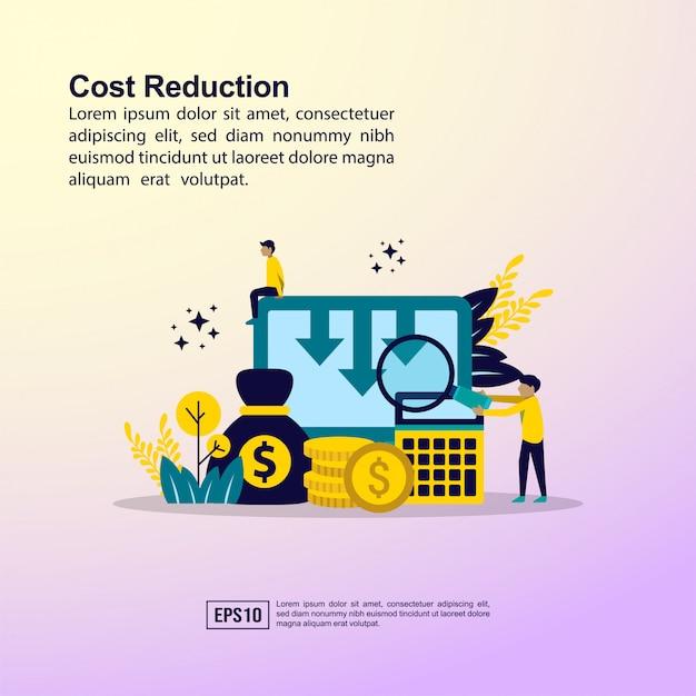 Kostensenkungskonzept Premium Vektoren