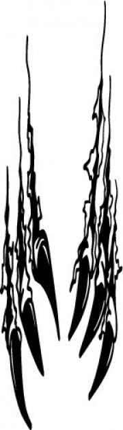 Kralle reißt wilden symbol vektor Kostenlosen Vektoren