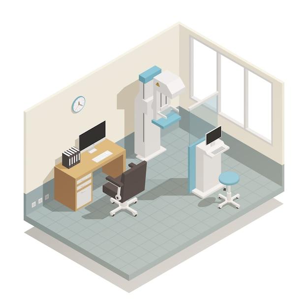 Krankenhaus-medizinische ausrüstung isometrisch Kostenlosen Vektoren