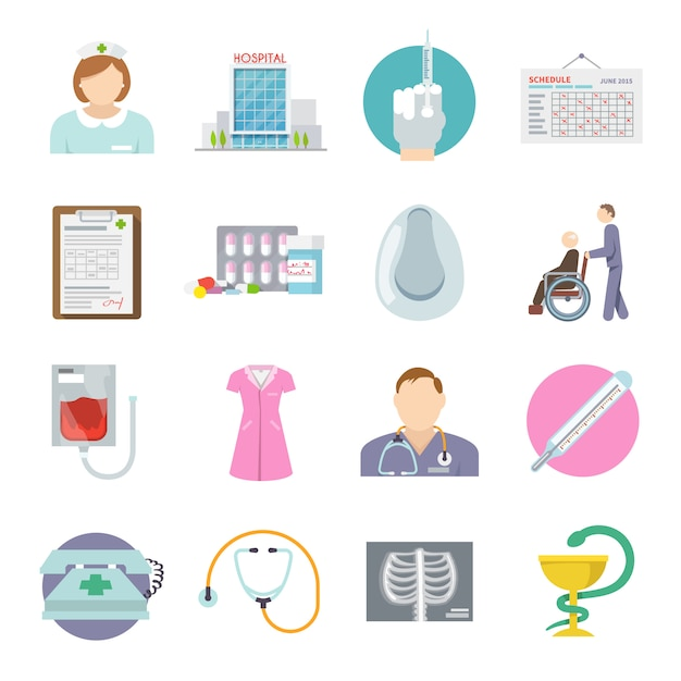 Krankenschwester-symbol flach Kostenlosen Vektoren