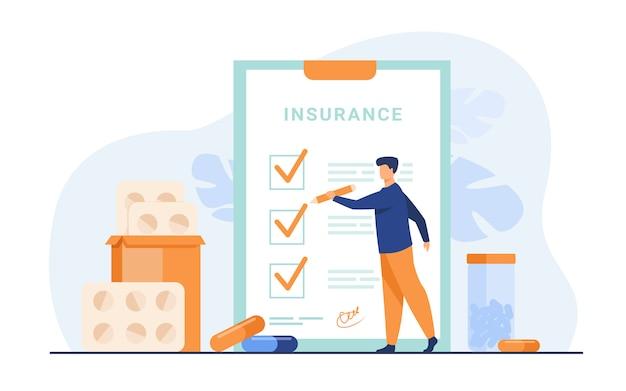 Krankenversicherungsvertrag Kostenlosen Vektoren