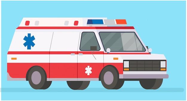 Krankenwagen-illustration Premium Vektoren