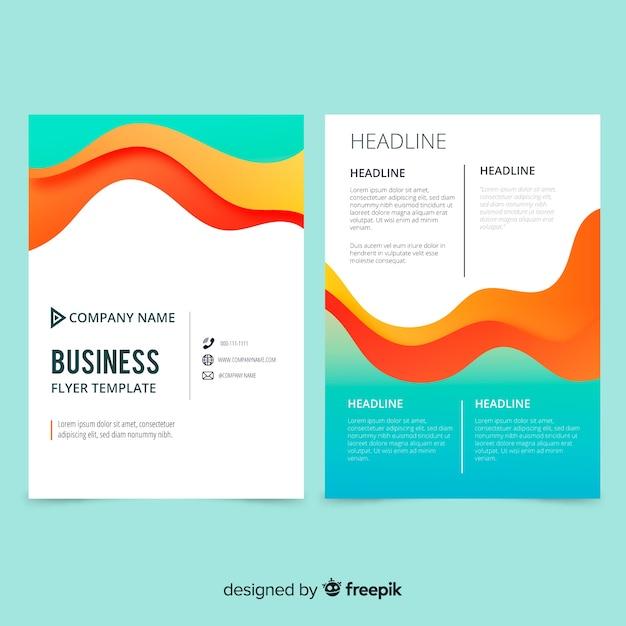 Kreative business-flyer-vorlage Kostenlosen Vektoren