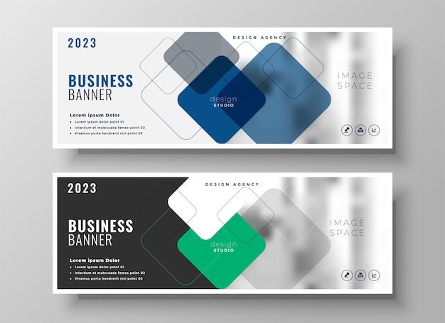 Kreative corporate business-banner-design Kostenlosen Vektoren
