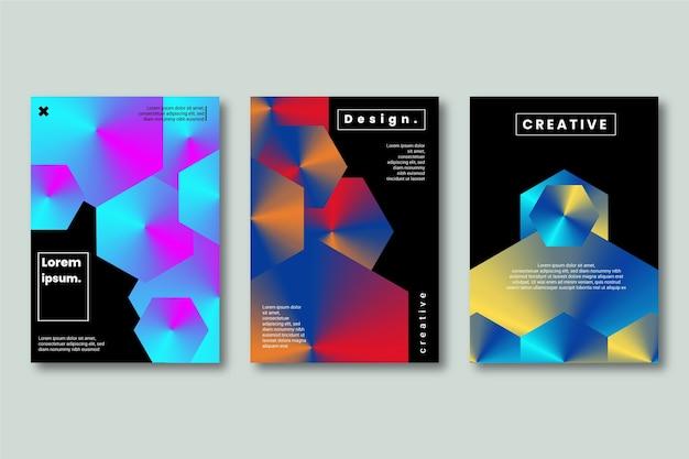 Kreative designformen im dunklen hintergrund Kostenlosen Vektoren