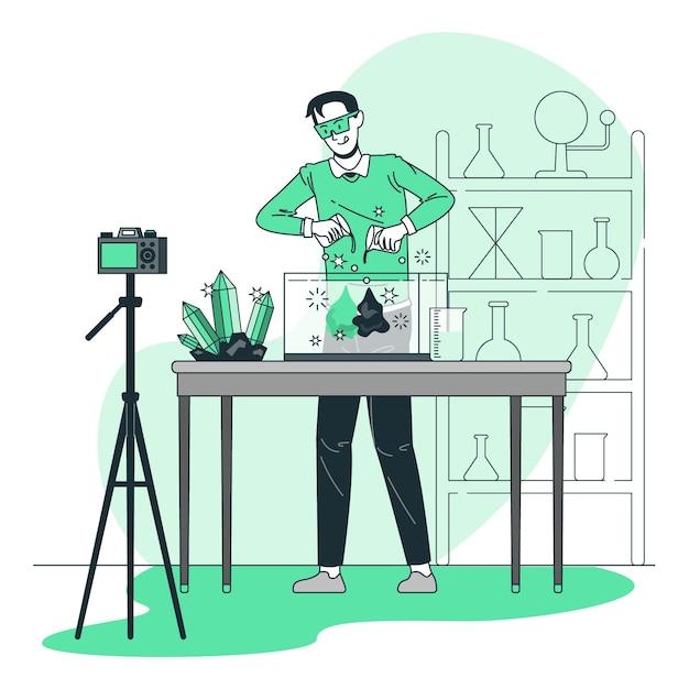 Kreative experimentkonzeptillustration Kostenlosen Vektoren