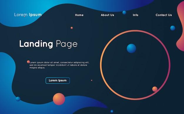 Kreative flüssige design-landingpage-webvorlage Premium Vektoren