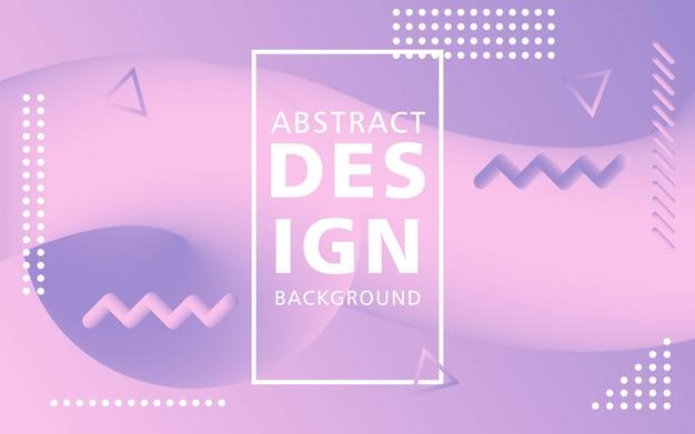 Kreative flussform des modernen designs 3d. lila liquid wave hintergründe. Premium Vektoren