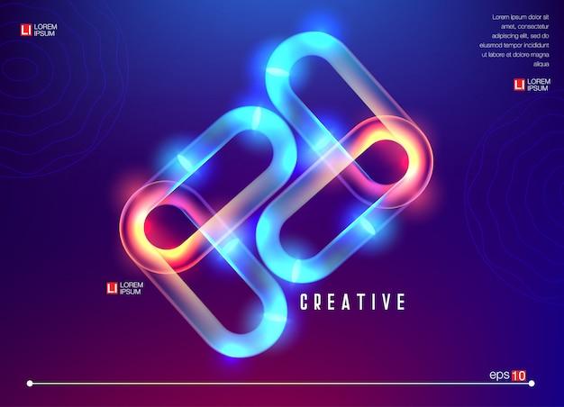Kreative geometrische tapete Premium Vektoren