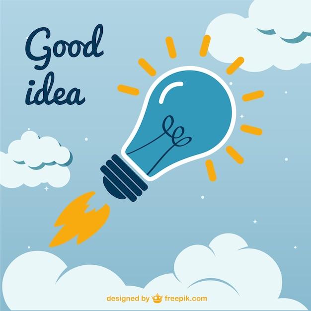 Kreative gute idee vektor Kostenlosen Vektoren