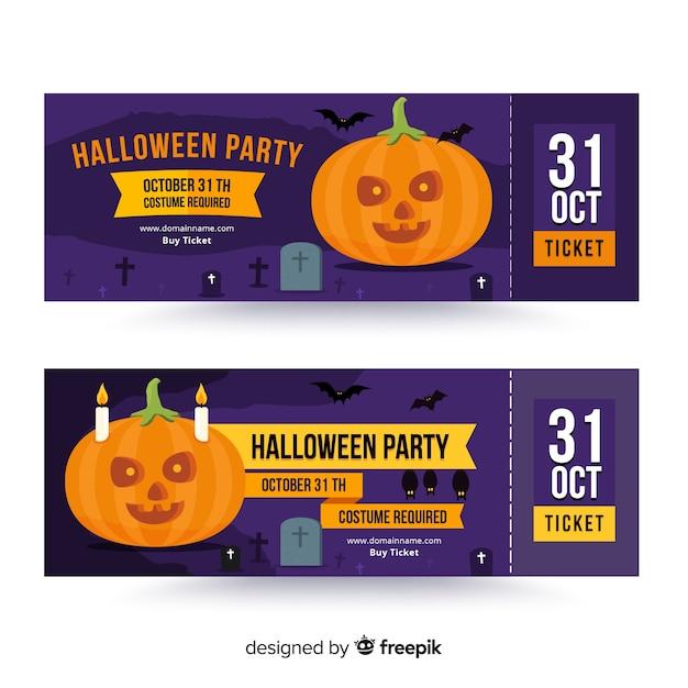 Kreative halloween ticketvorlage Kostenlosen Vektoren