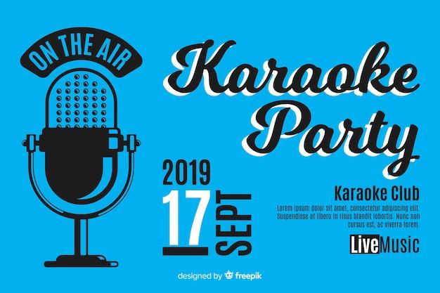 Kreative karaoke party banner vorlage Kostenlosen Vektoren
