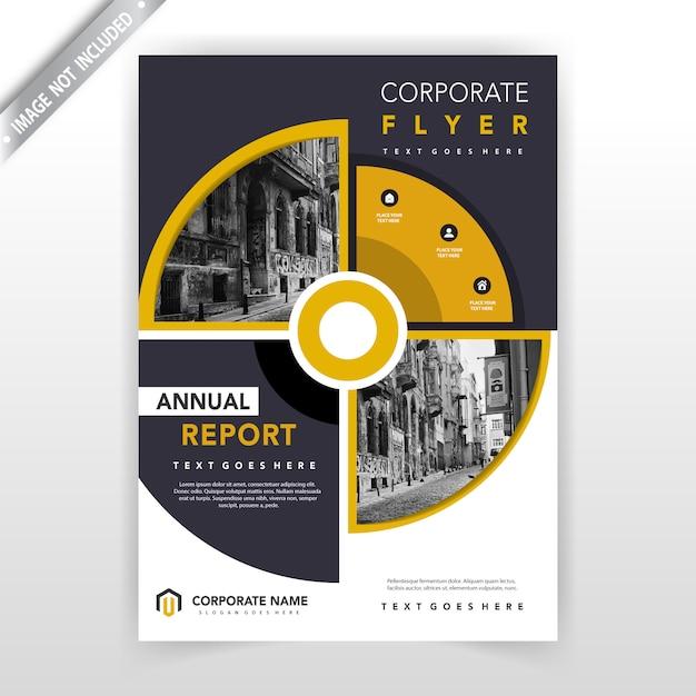 kreative kreisförmige Flyer Design-Vorlage Kostenlose Vektoren